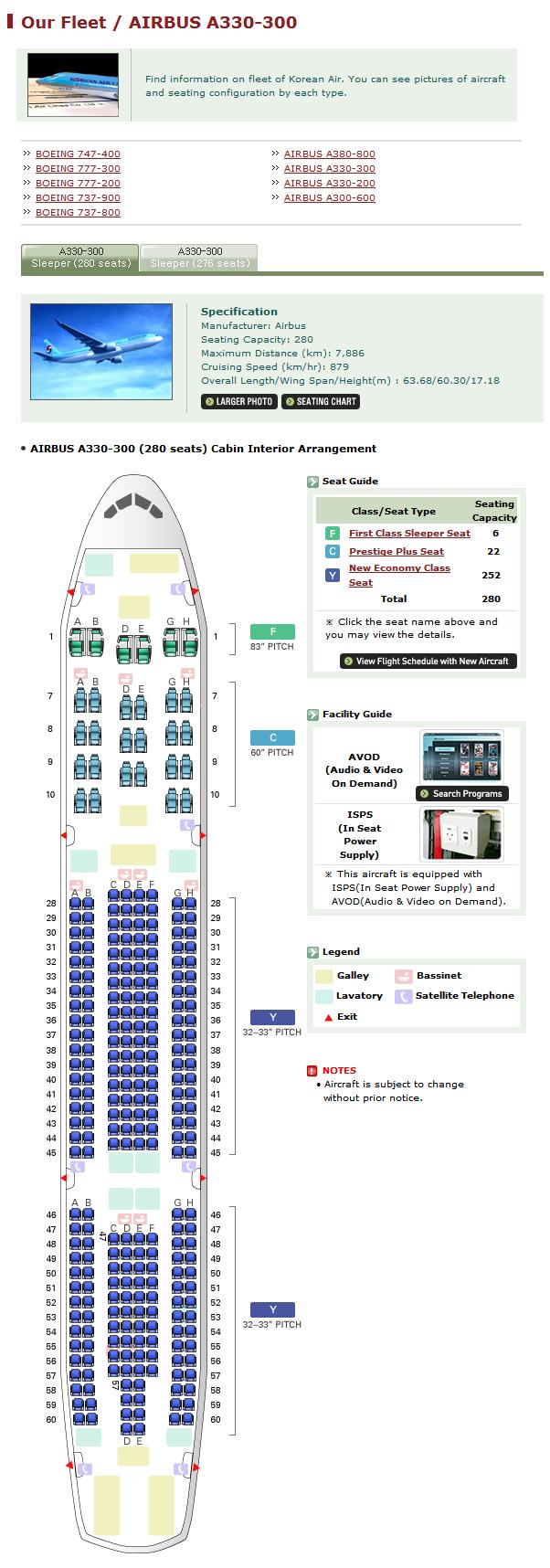 Image Gallery Korean Air Seating Chart