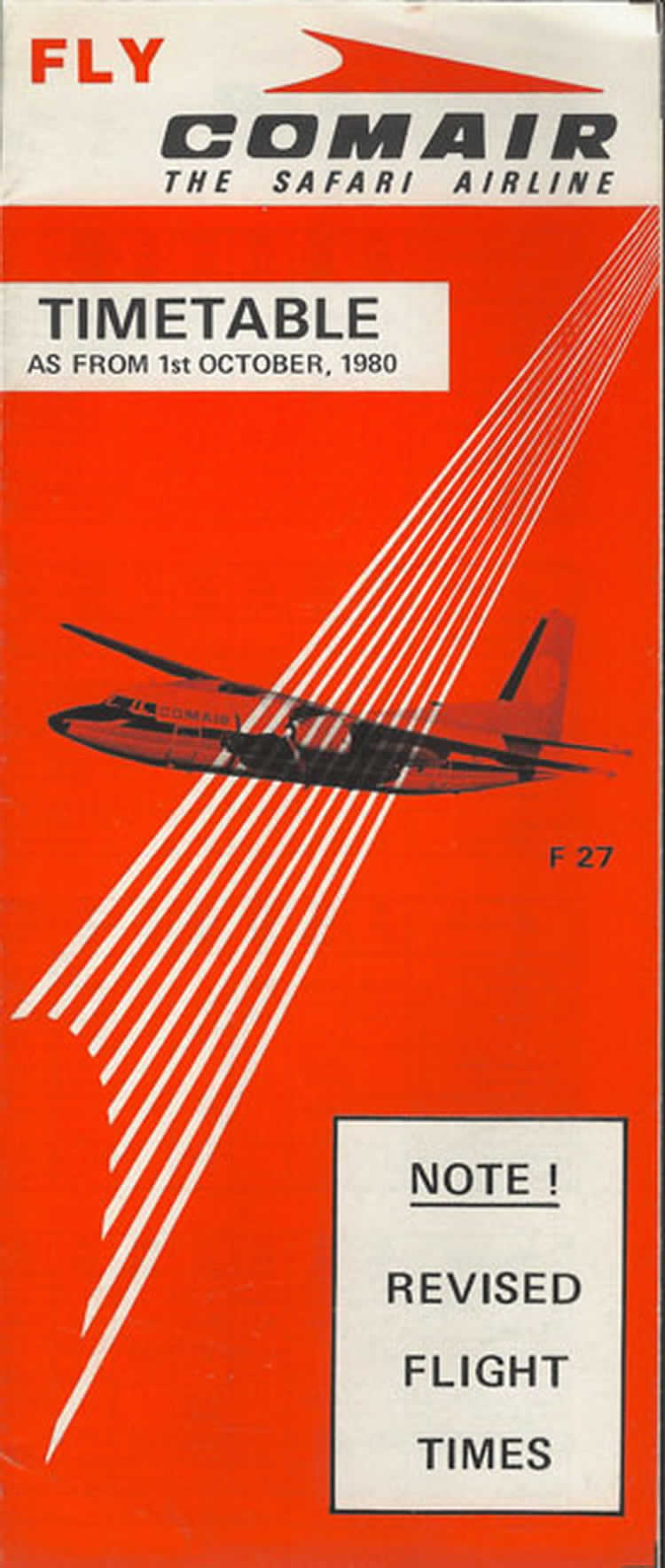 vintage airline timetable for comair