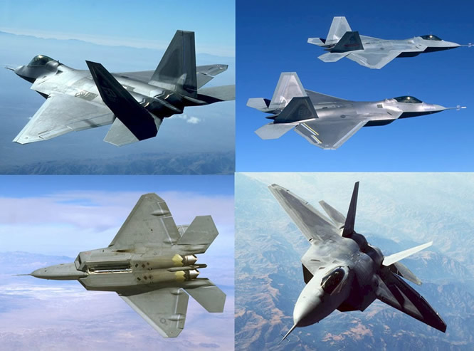 USAF F-22 Raptor Fighter Aircraft