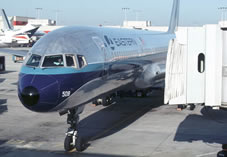 eastern airlines 757 at airport gate
