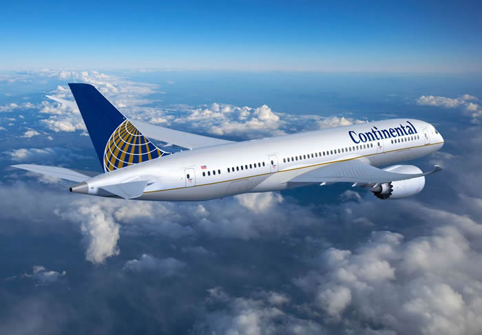 continental airlines boeing 787