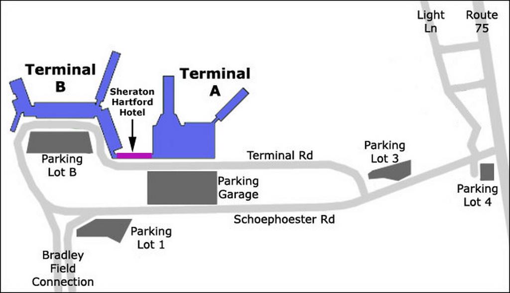 airport parking map bradley airport parking map