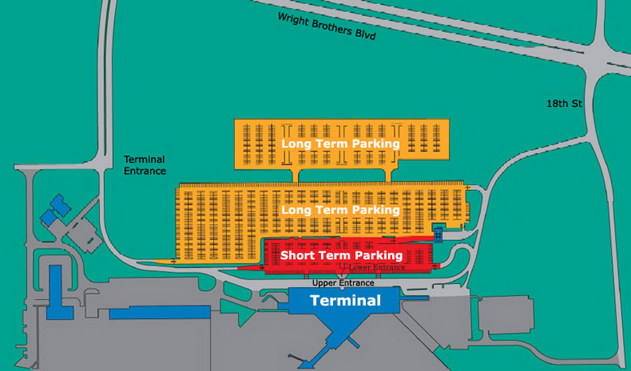 Airport Parking Map cedarrapidsairportparkingjpg