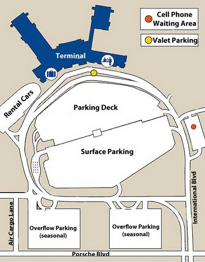 Airport Parking Map charlestonairportparkingmapjpg