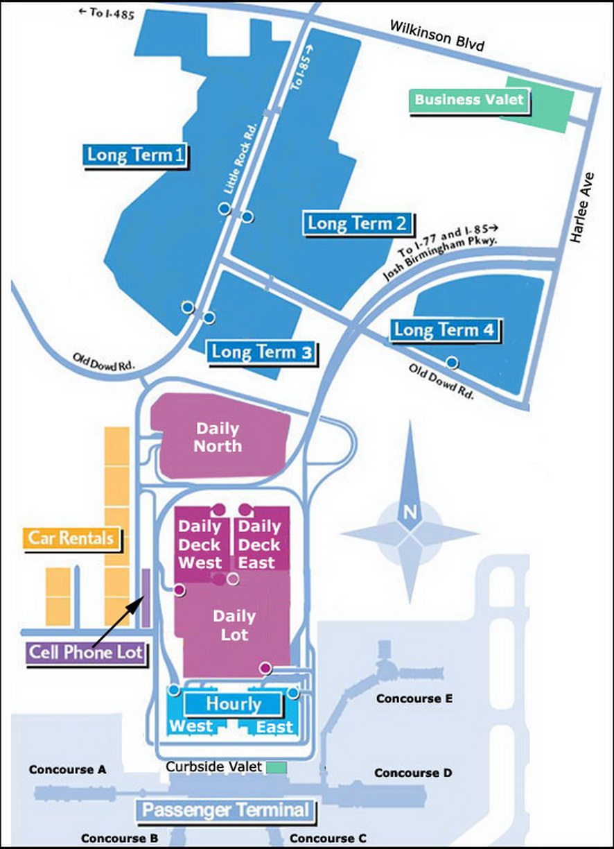 airport parking map charlotte airport parking map