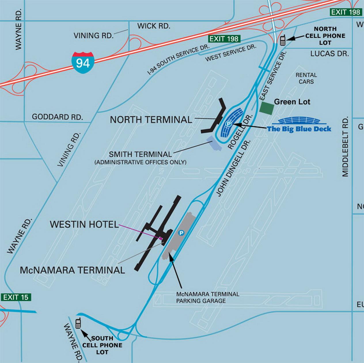 Airport Parking Map  Detroitairportparkingmapjpg