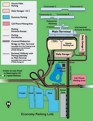 Airport Parking Maps For Des Moines Detroit Dfw Dulles