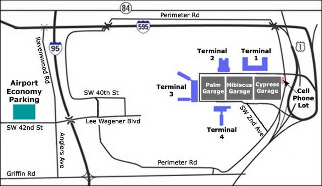 Airport Parking Map Fort Lauderdale Airport Parking Map Jpg