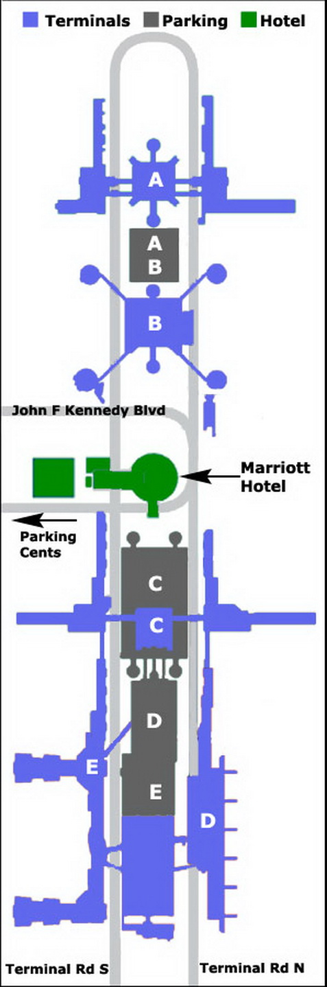 Airport Parking Map George Bush Airport Parking Map Jpg