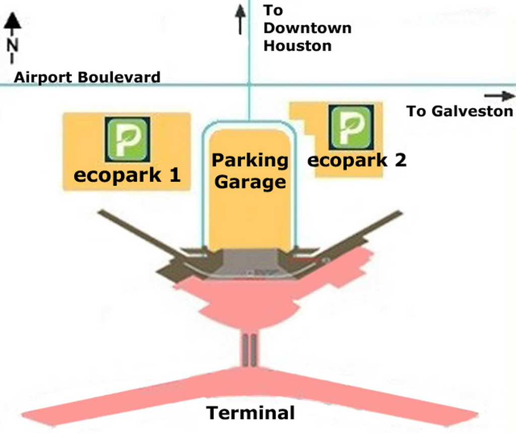 . airport parking map  houstonhobbyairportparkingmap