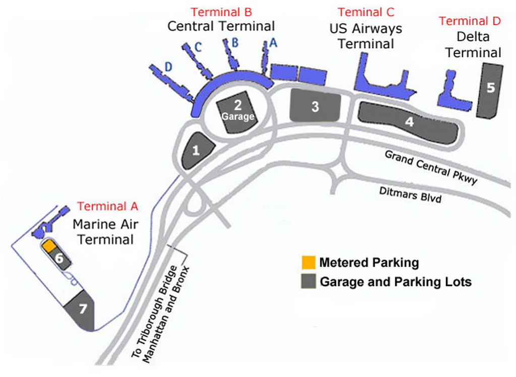 Laguardia airport parking map my blog for Lax long term parking lot