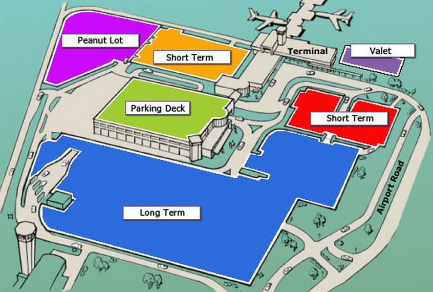 Lax parking lot map image collections diagram writing for Lax long term parking lot