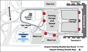 Midway Airport Car Rental Map