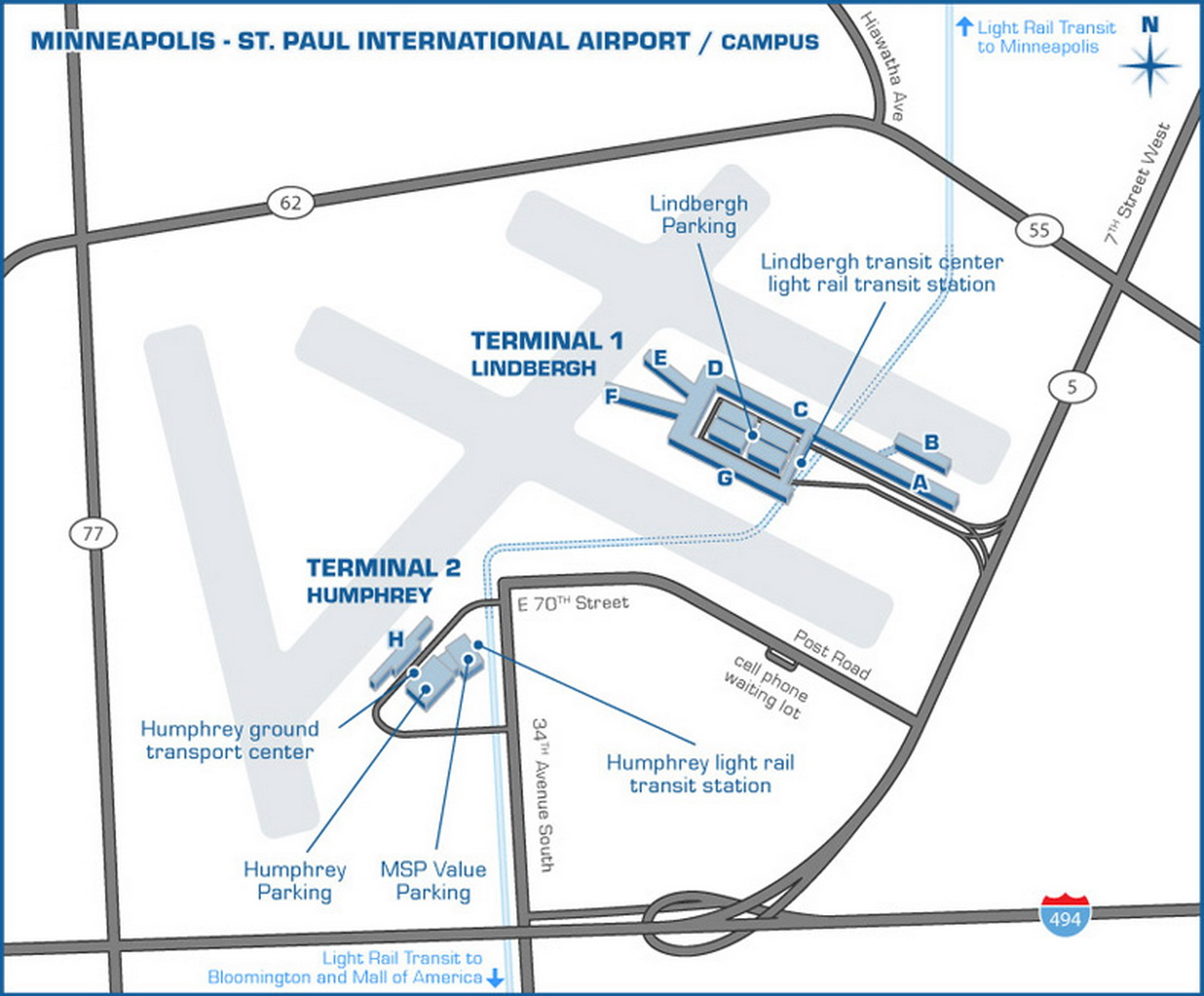 airport parking maps for minneapolis nashville new orleans newark rh aviationexplorer com new orleans airport parking options new orleans airport parking status