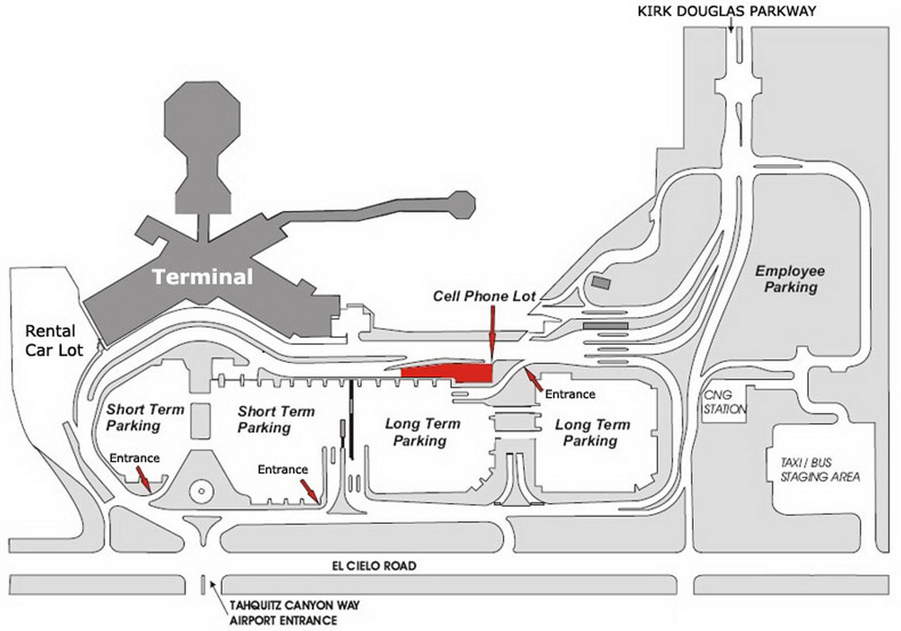 palm springs airport map Airport Parking Map Palm Springs Airport Parking Map Jpg palm springs airport map