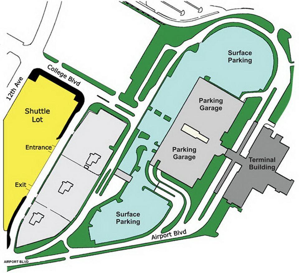 Airport Parking Maps For Palm Beach Palm Springs Pensacola