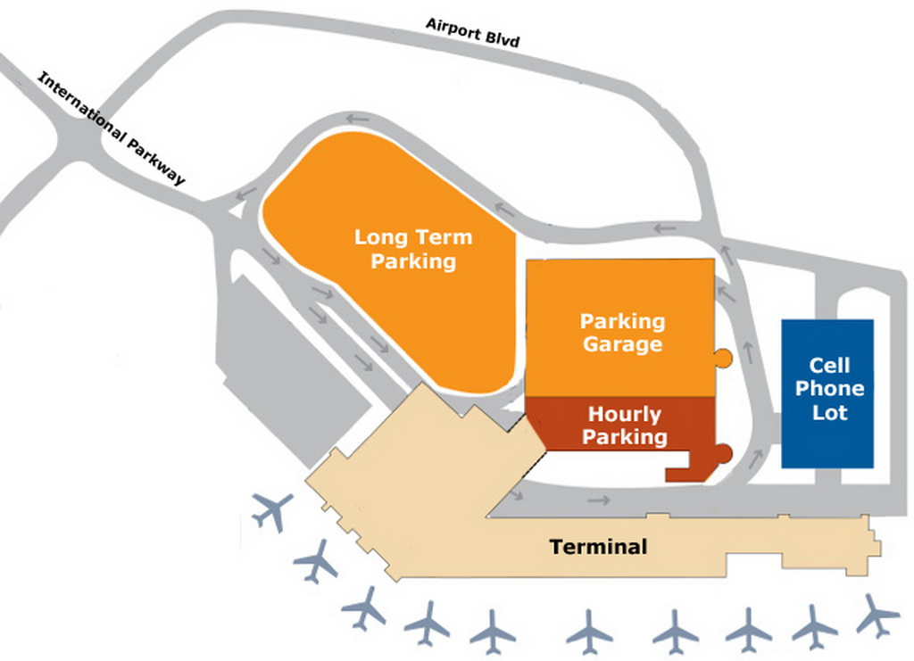 Pdx Long Term Parking >> Airport Parking Map Portland Maine Airport Parking Map Jpg