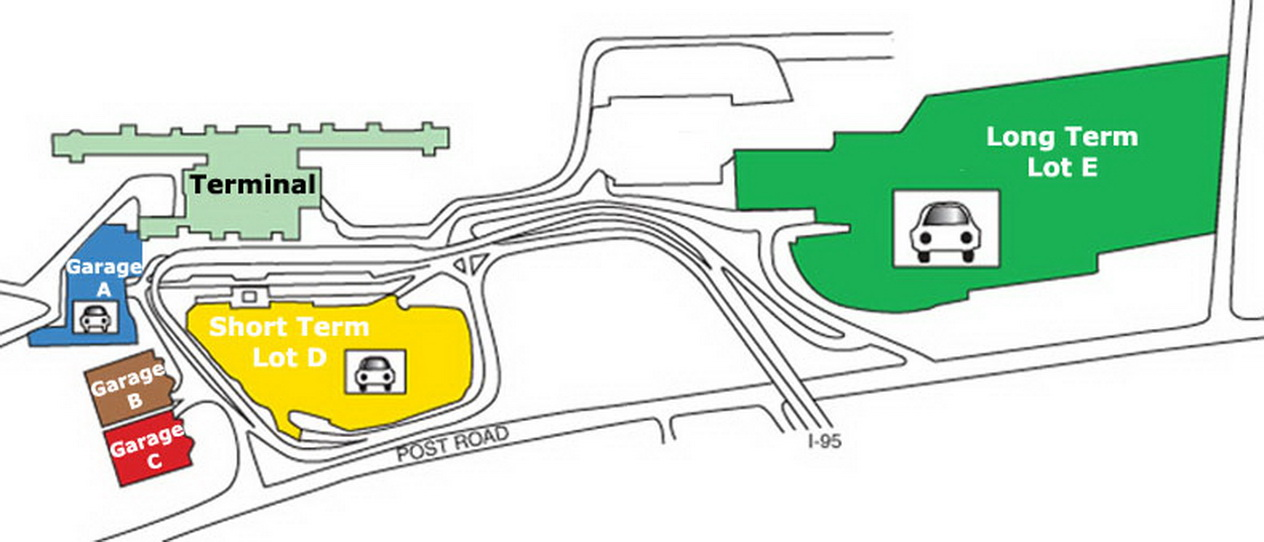 Airport Parking Map Providence Airport Parking Map Jpg