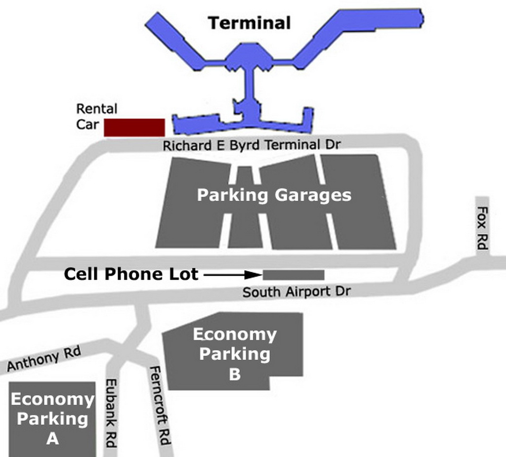 Airport Parking Map  Richmondairportparkingmapjpg
