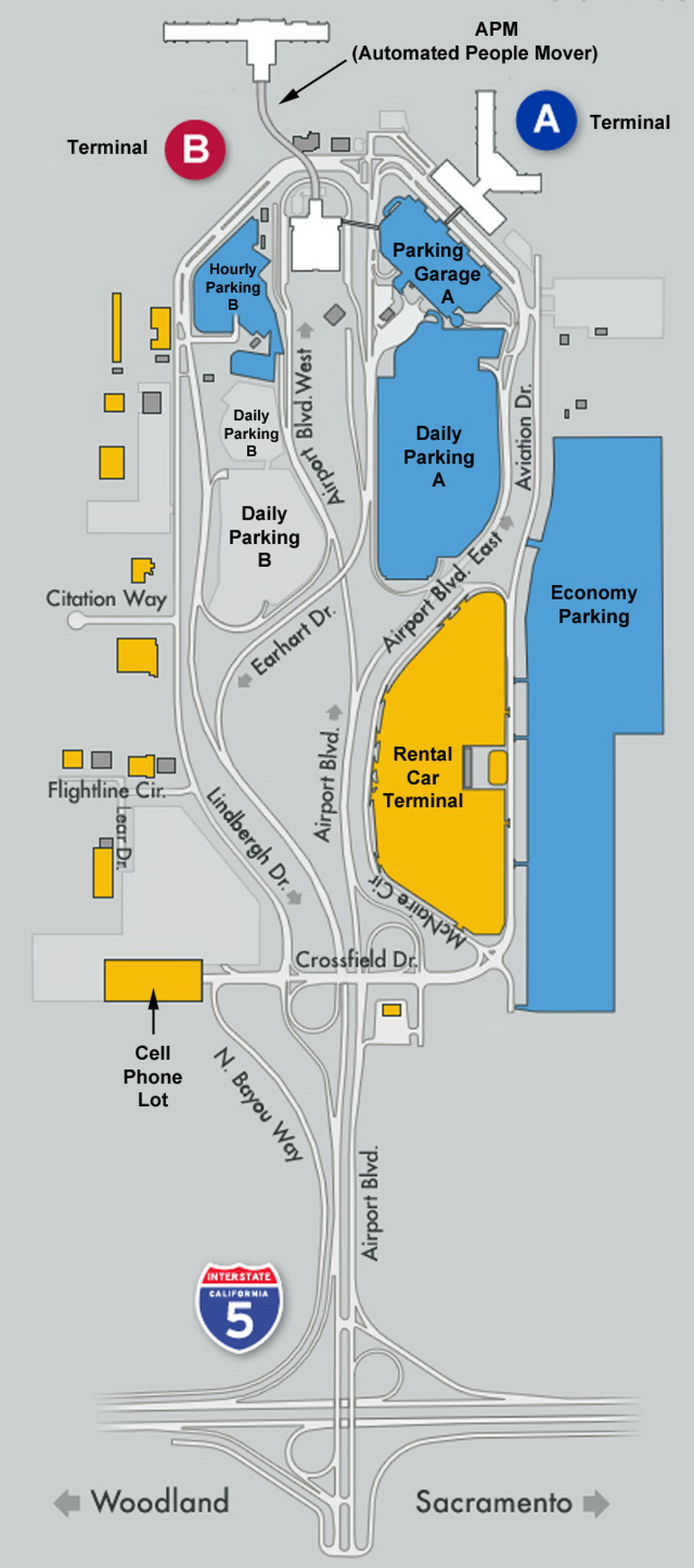 . airport parking map  sacramentoairportparkingmap