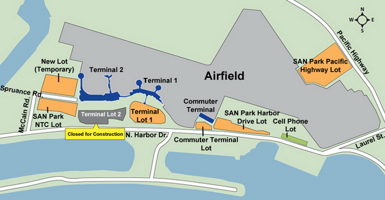 san diego airport map pdf