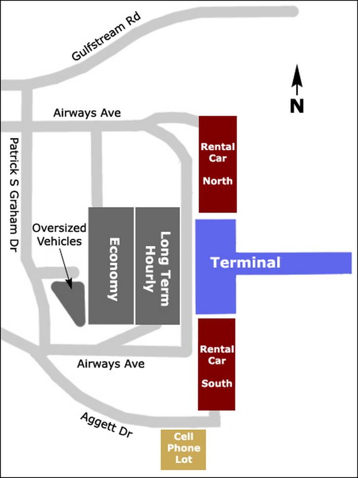 Airport Parking Maps For San Jose Santa Barbara Savannah Seattle