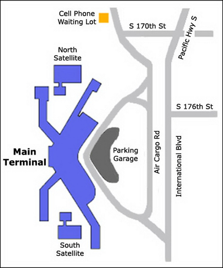 Airport Parking Map seattle airport parking