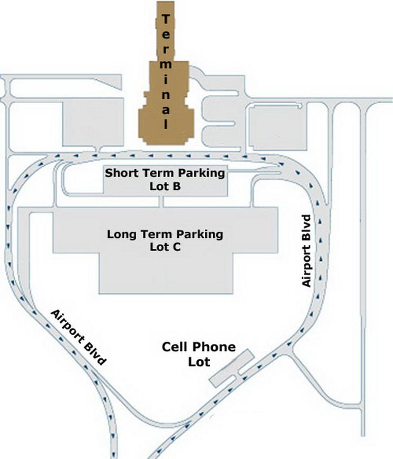 Airport Parking Map Springfield Missouri Airport Parking Jpg