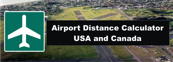 airport distance calculator for airports in usa or canada. Black Bedroom Furniture Sets. Home Design Ideas