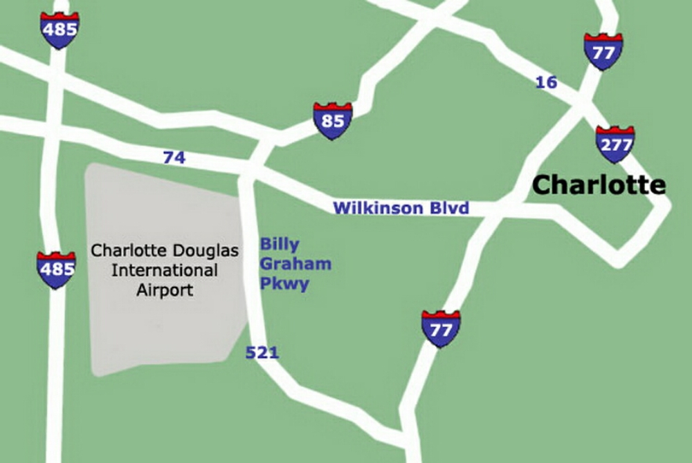 Charlotte Airport Map
