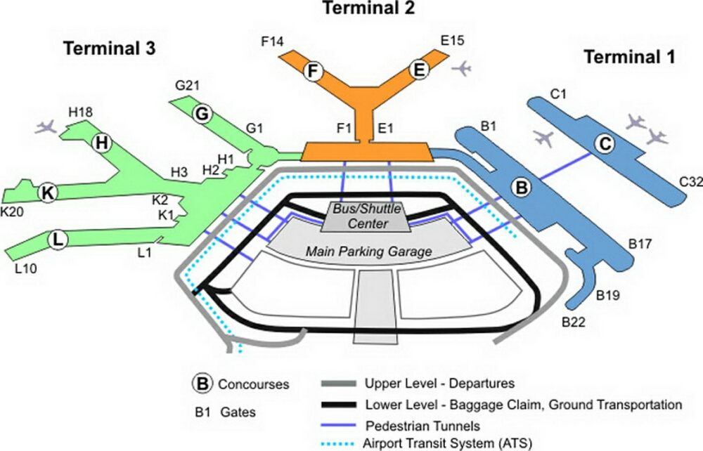 Chicago Ohare Airport Terminal Map