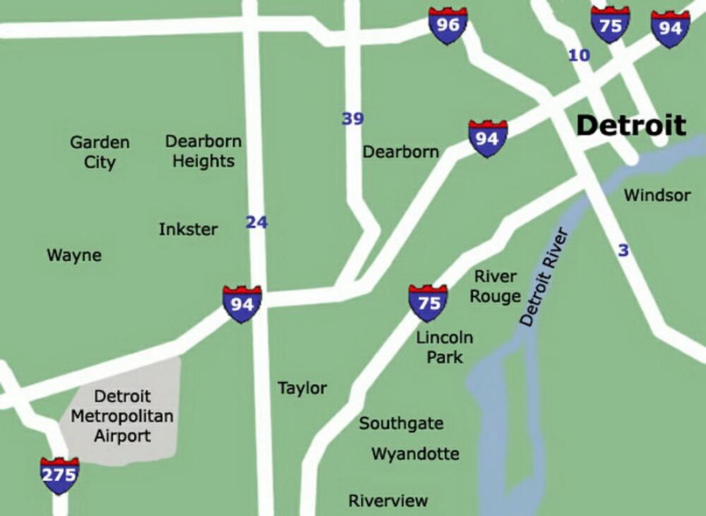 Detroit Airport Map