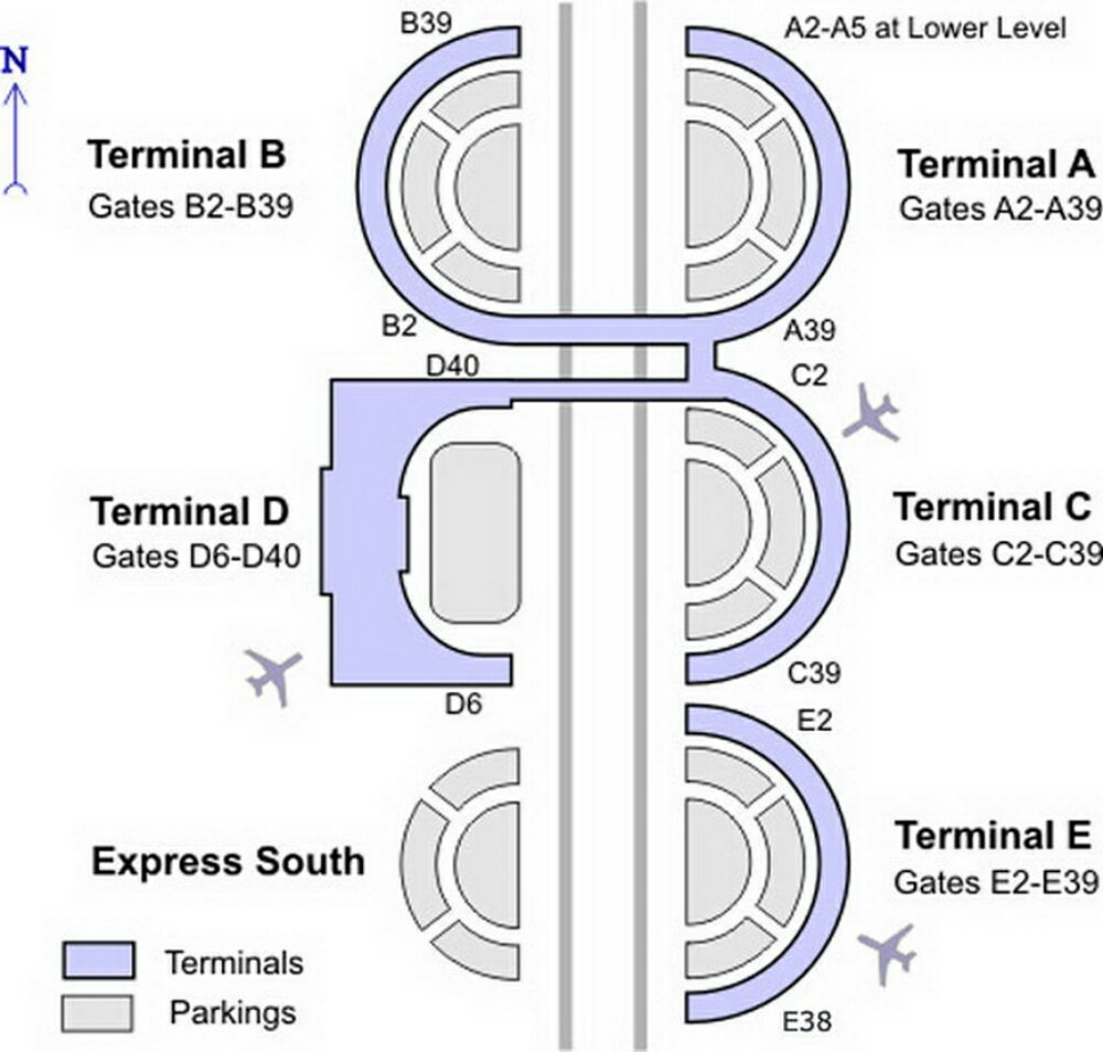 DFW Airport Gate Map