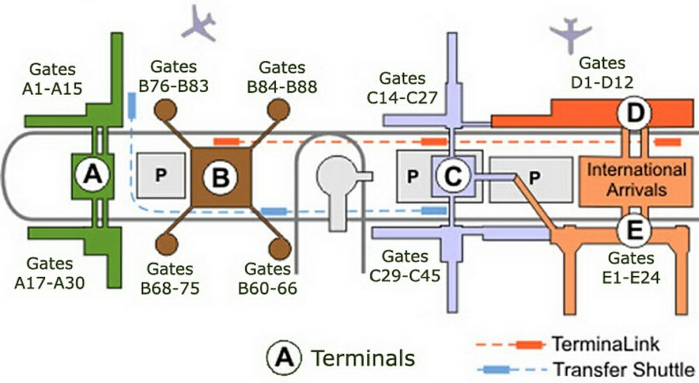 Airport Terminal Map Georgebushairportgatemapjpg - Houston terminal map