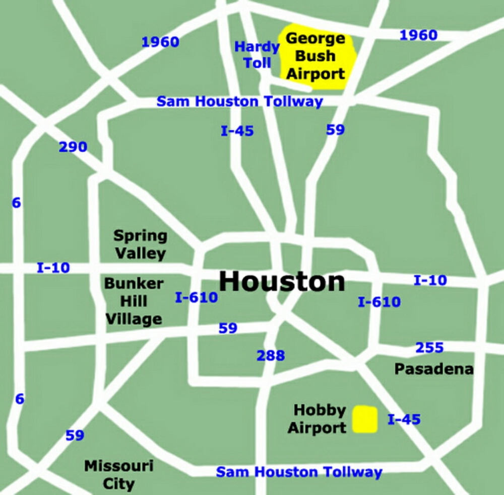 Airport Terminal Map Houstonairportmapjpg - Houston terminal map