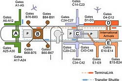 Airport Terminal Maps Fort Lauderdale George Bush Honolulu