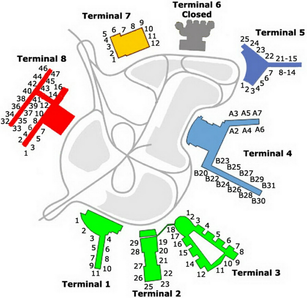 Airport terminal map jfk airport gate mapg pooptronica Gallery