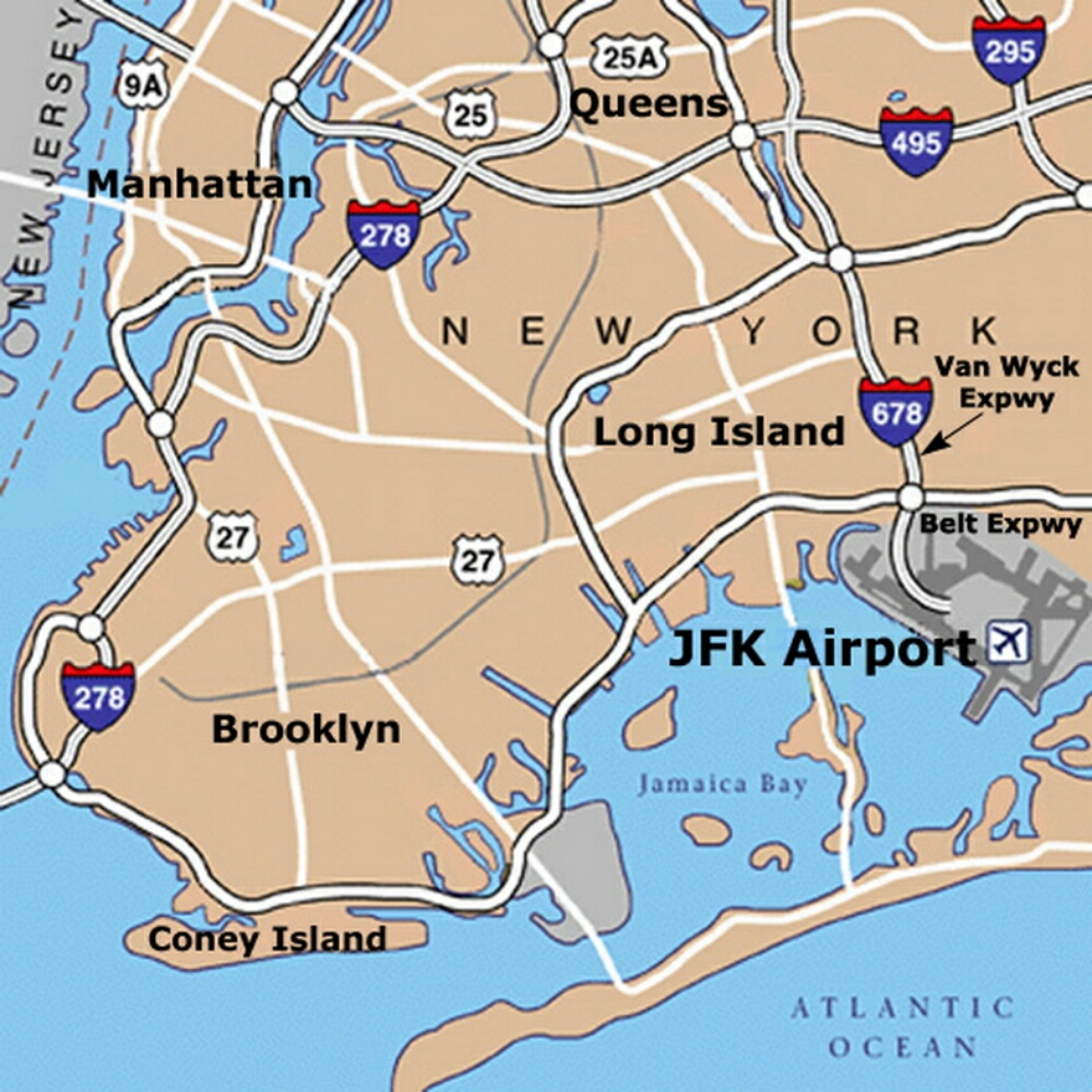 New York Airports Map Images