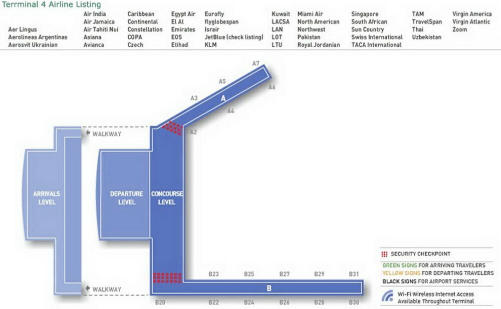 Jfk Airport Terminal 4 Map Airport Terminal Map   jfk airport terminal 4.