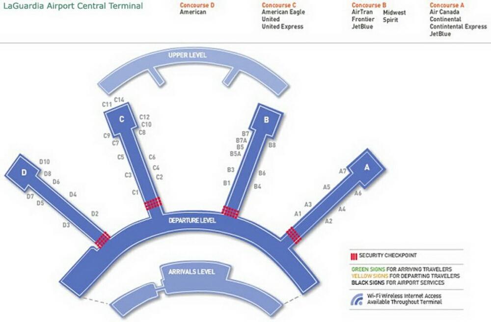 Airport Terminal Map Laguardiaairportterminalbjpg - Laguardia airport map