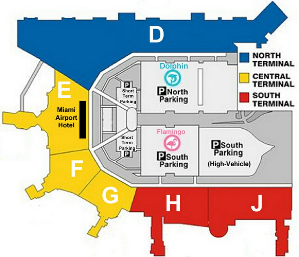 Airport Terminal Map miamiairportterminalmapjpg