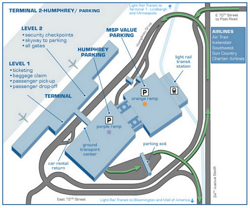 Airport Terminal Map  Minneapolisairporthumphrey