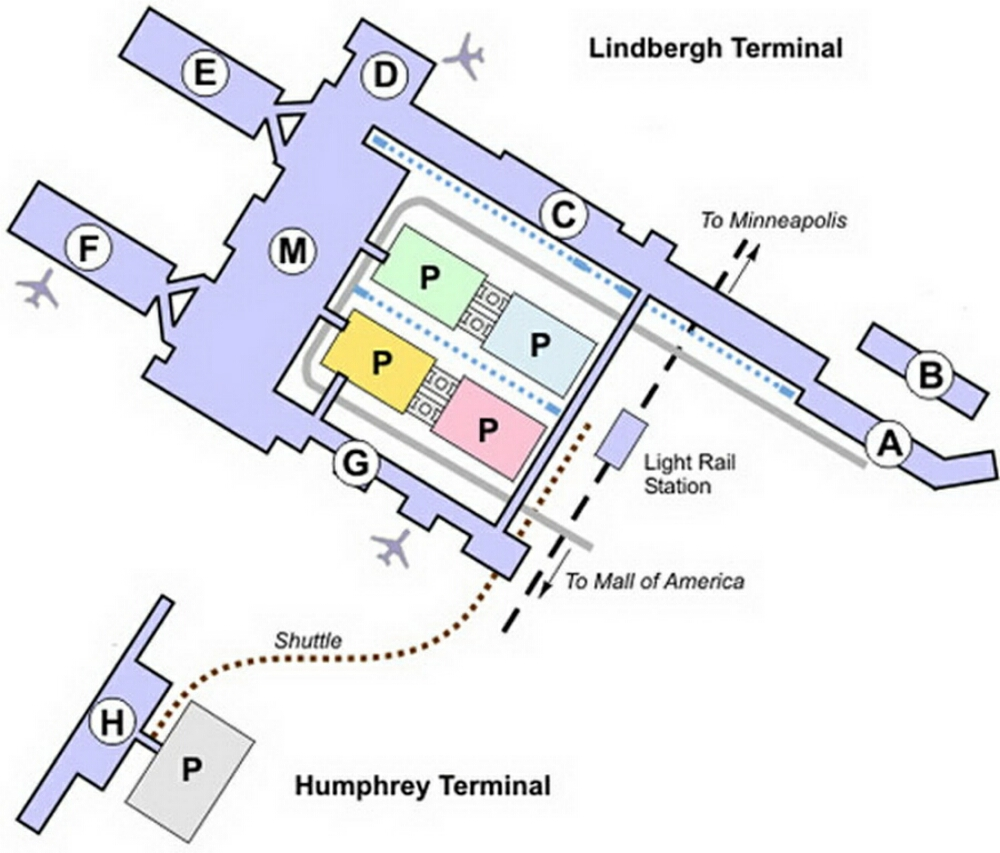 Airport Terminal Map  Minneapolisairportterminalmapjpg