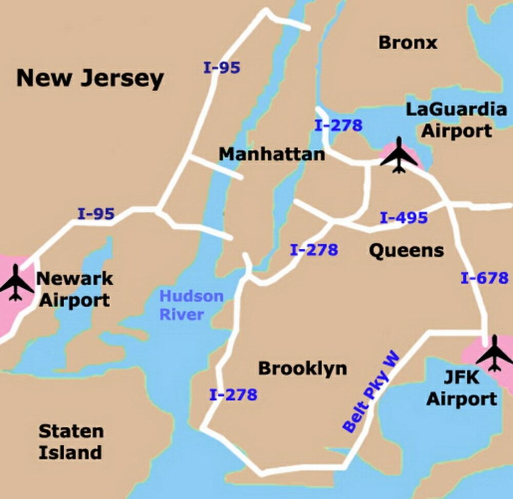 Airport terminal map new york city airport map