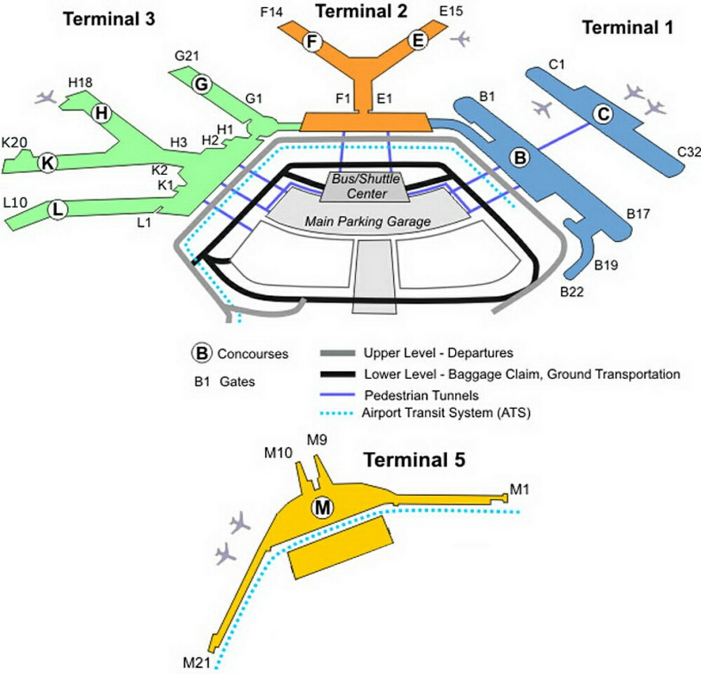 . airport terminal map  ohareairportgatemap
