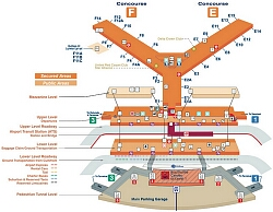 oakland airport map gallery