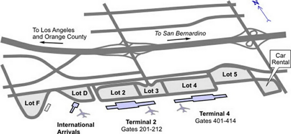 Ontario Airport California Map Airport Terminal Map   ontario ca airport terminal map.