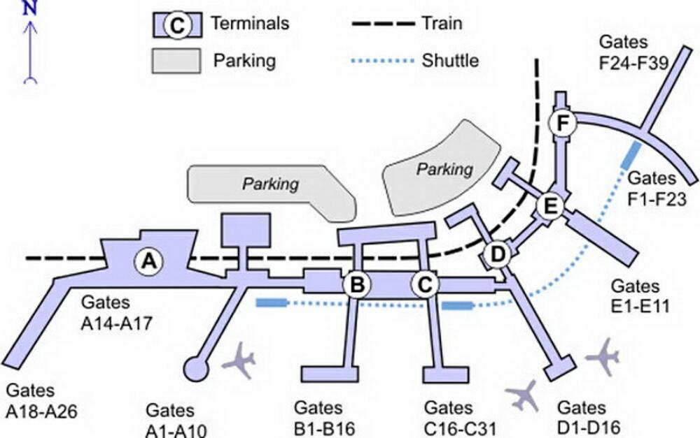 Airport Terminal Map Philadelphiaairportterminalmapjpg - Philadelphia terminal map
