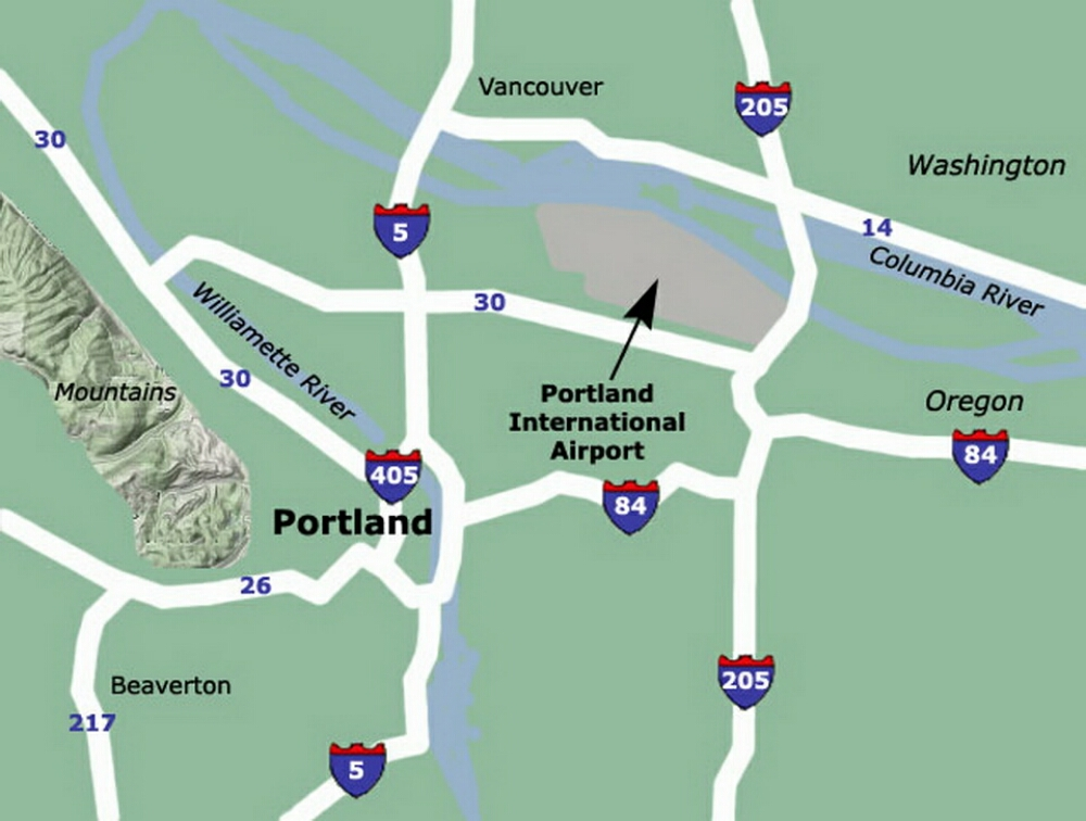 Map Of Portland Airport Afputracom