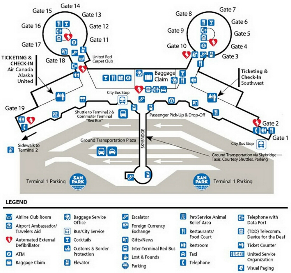 Rental Cars At Cvg Pics Photos - Airport Terminal Map San Diego Airport Terminal 2 Jpg